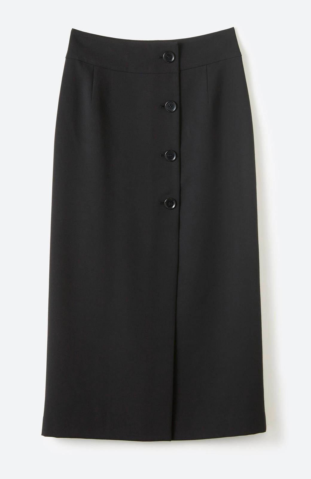 haco! はいてこそ見える実力、セミフォーマルにも使えるオトナのタイトスカート by MAKORI <ブラック>の商品写真2