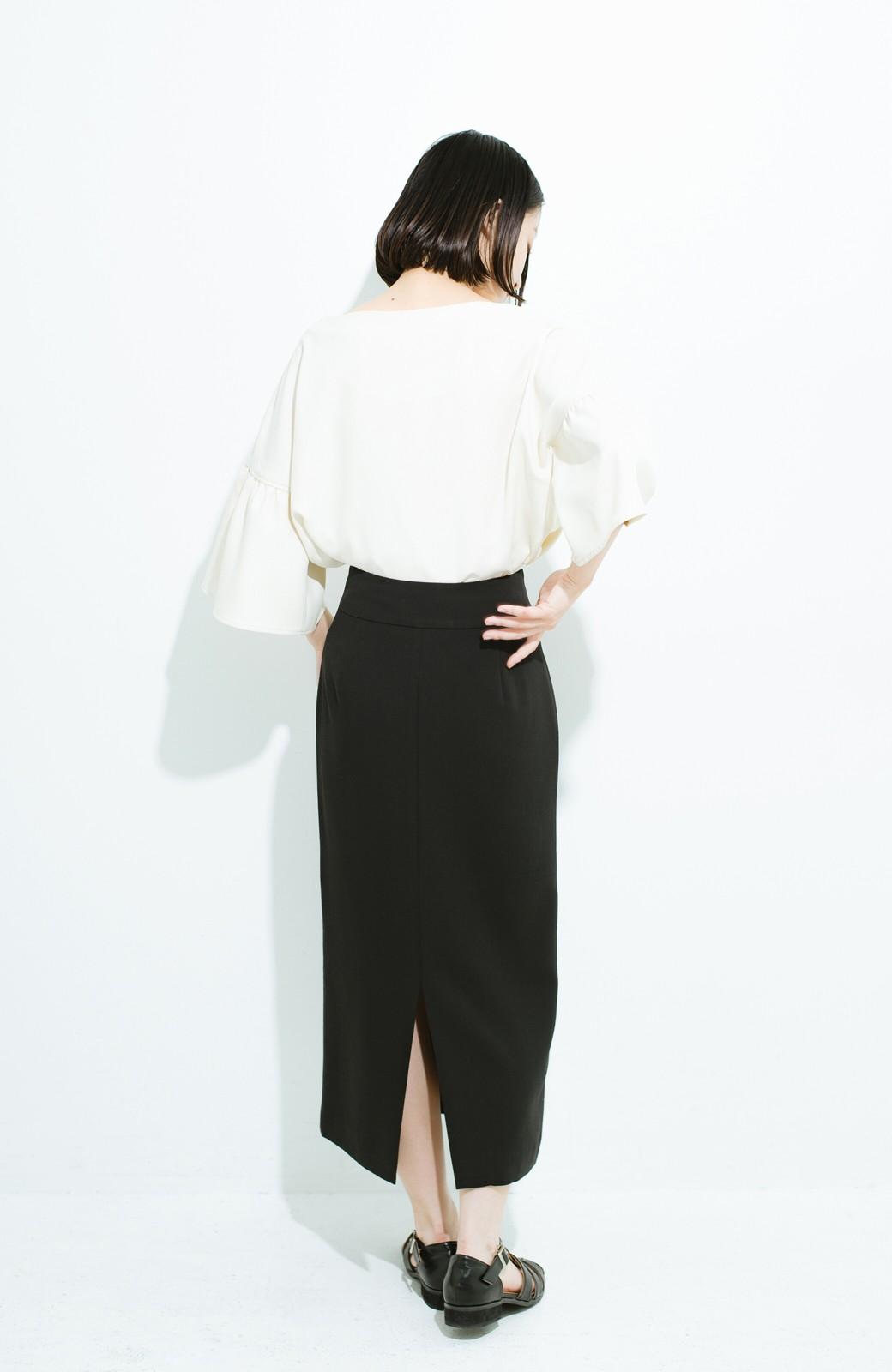haco! はいてこそ見える実力、セミフォーマルにも使えるオトナのタイトスカート by MAKORI <ブラック>の商品写真12