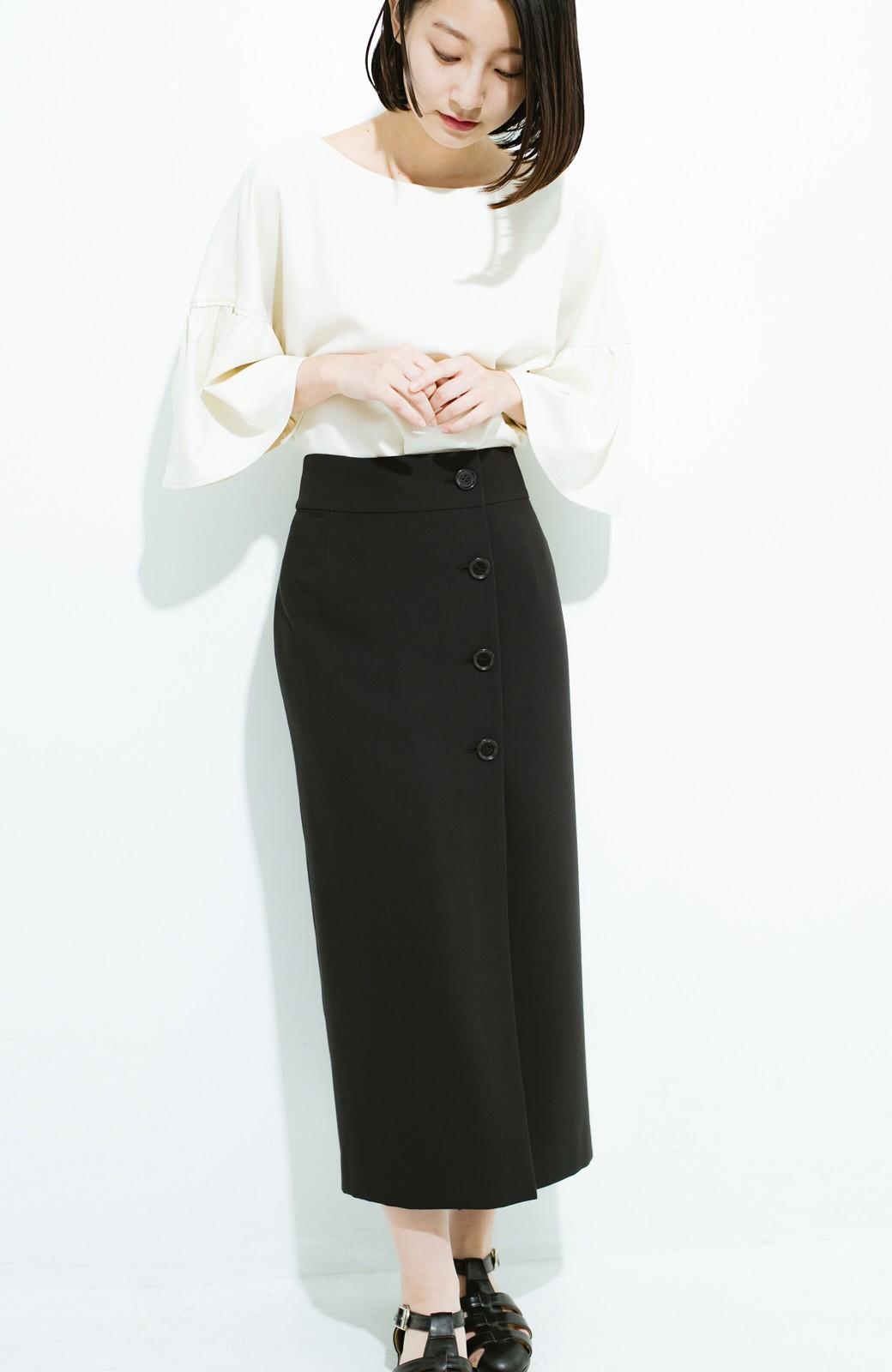 haco! はいてこそ見える実力、セミフォーマルにも使えるオトナのタイトスカート by MAKORI <ブラック>の商品写真1