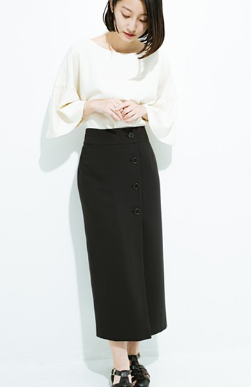 haco! はいてこそ見える実力、セミフォーマルにも使えるオトナのタイトスカート by MAKORI <ブラック>の商品写真