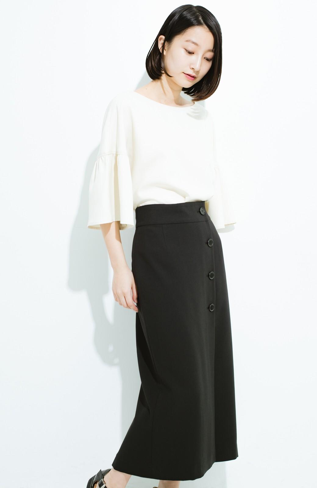 haco! はいてこそ見える実力、セミフォーマルにも使えるオトナのタイトスカート by MAKORI <ブラック>の商品写真13