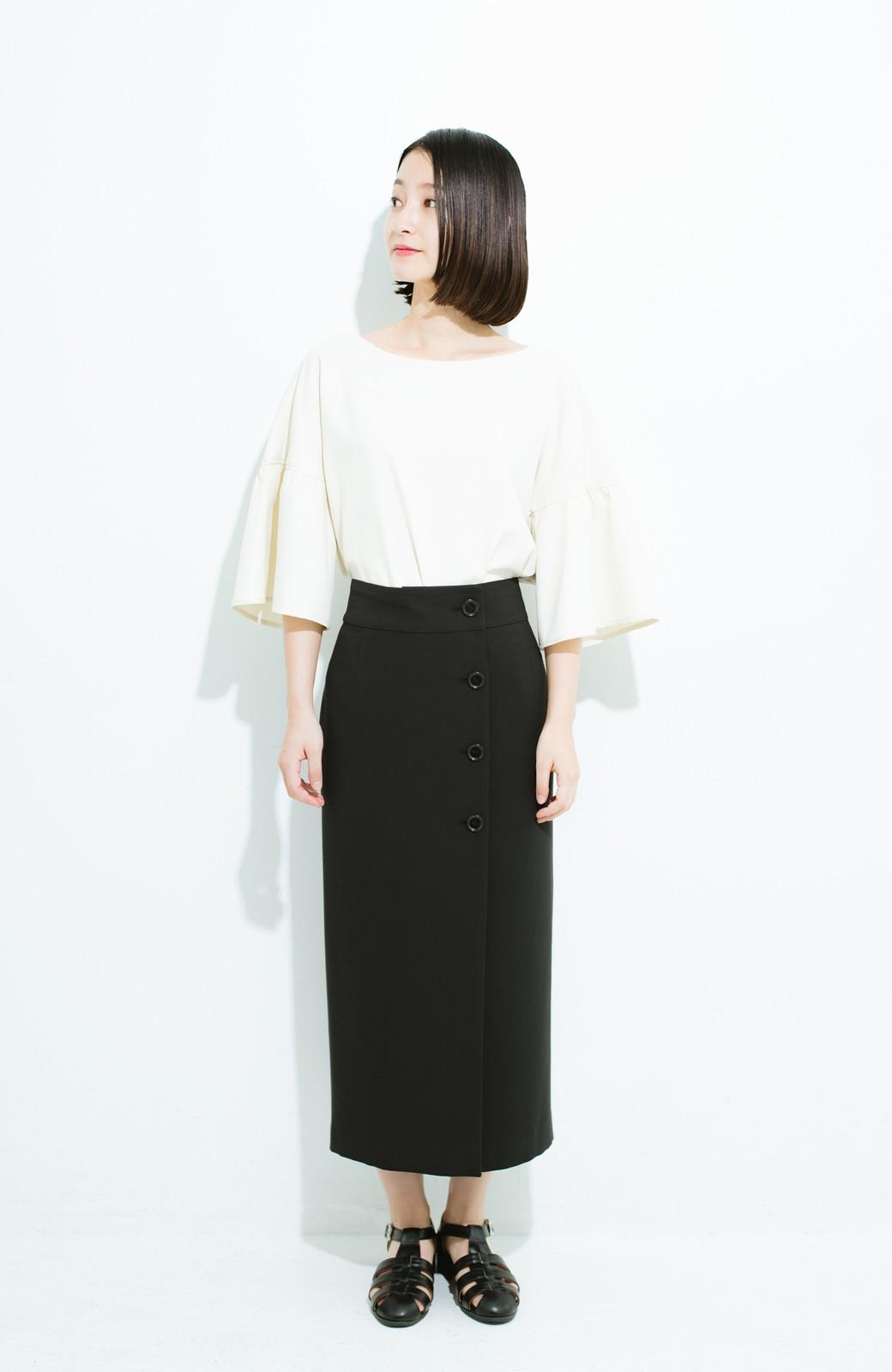 haco! はいてこそ見える実力、セミフォーマルにも使えるオトナのタイトスカート by MAKORI <ブラック>の商品写真8