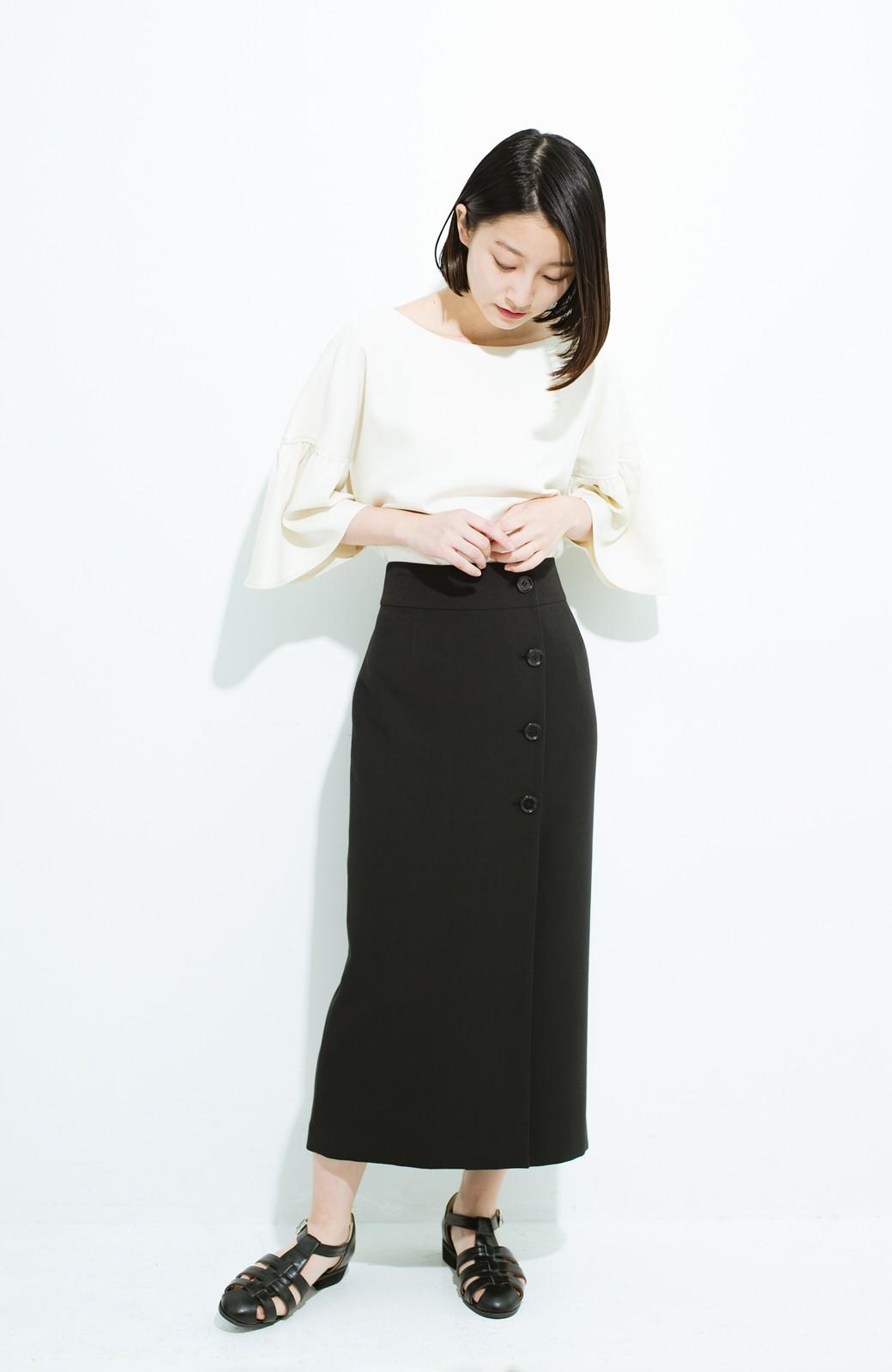haco! はいてこそ見える実力、セミフォーマルにも使えるオトナのタイトスカート by MAKORI <ブラック>の商品写真9