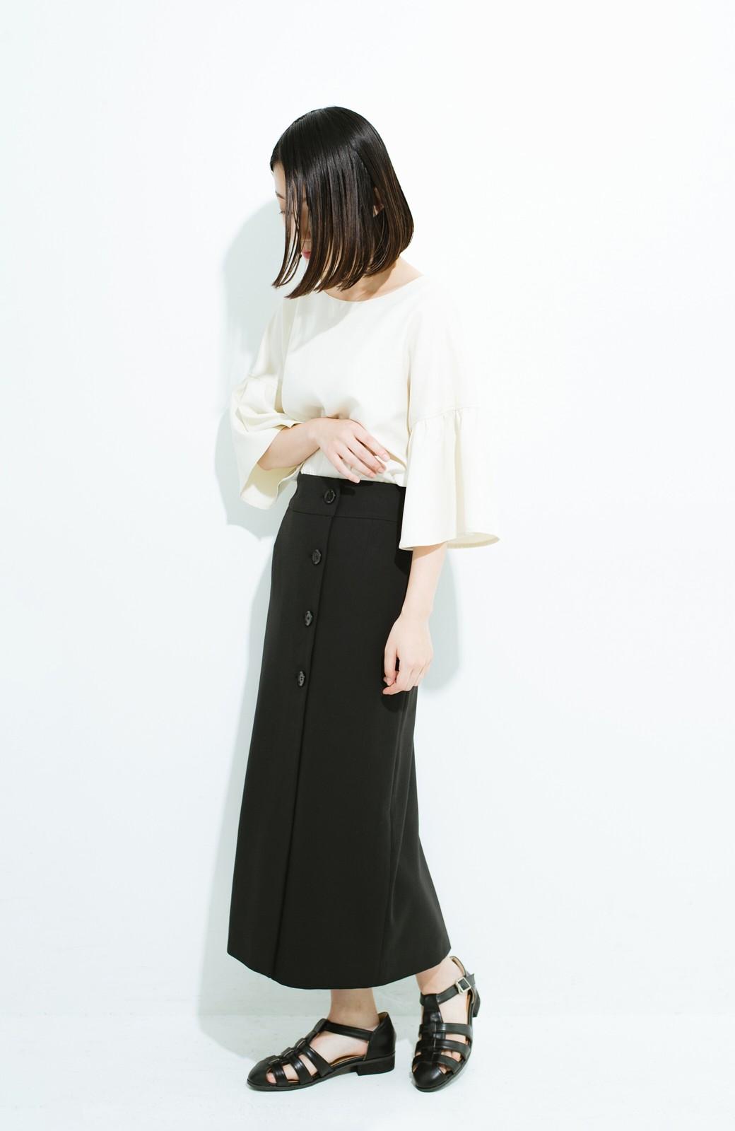 haco! はいてこそ見える実力、セミフォーマルにも使えるオトナのタイトスカート by MAKORI <ブラック>の商品写真10