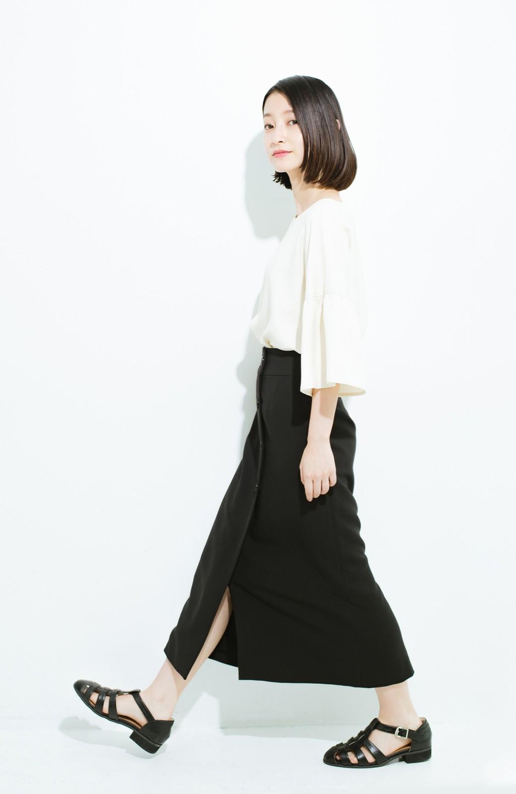haco! はいてこそ見える実力、セミフォーマルにも使えるオトナのタイトスカート by MAKORI <ブラック>の商品写真11