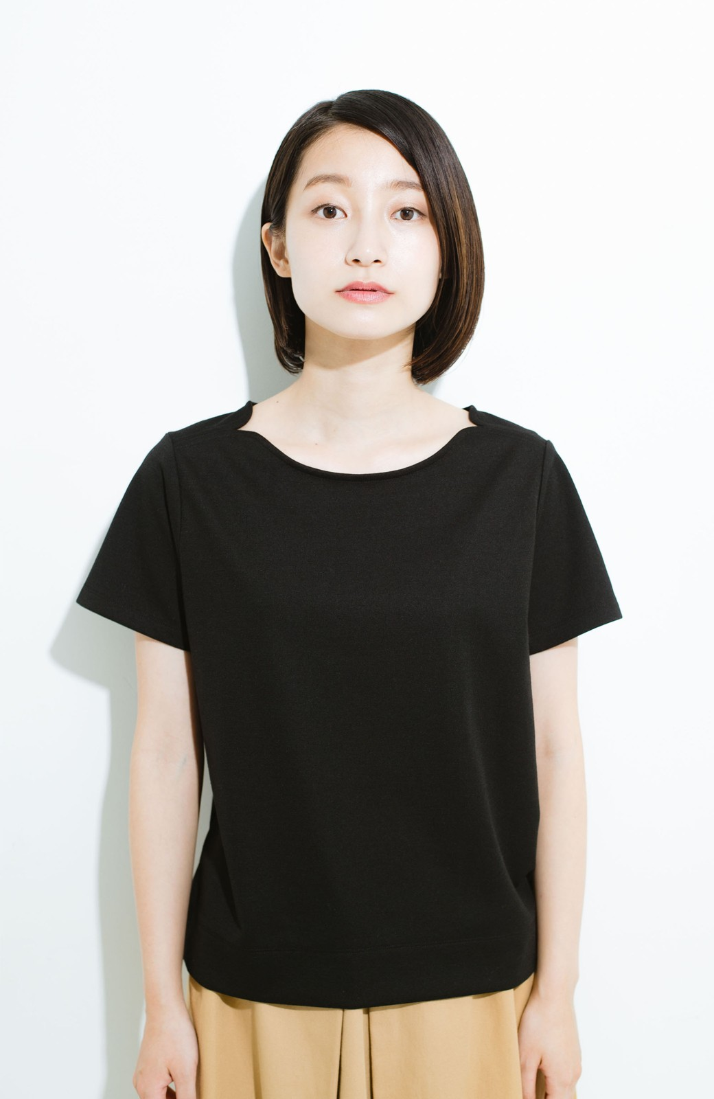haco! きちんと見えて 便利な楽ちんセットアップ by que made me <ブラック>の商品写真16
