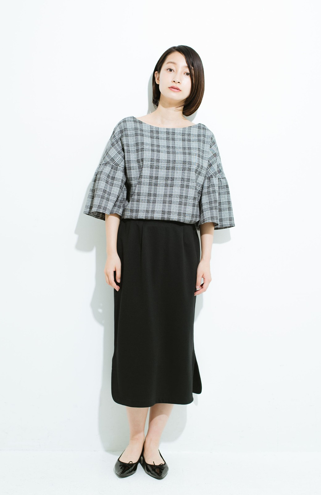 haco! きちんと見えて 便利な楽ちんセットアップ by que made me <ブラック>の商品写真14