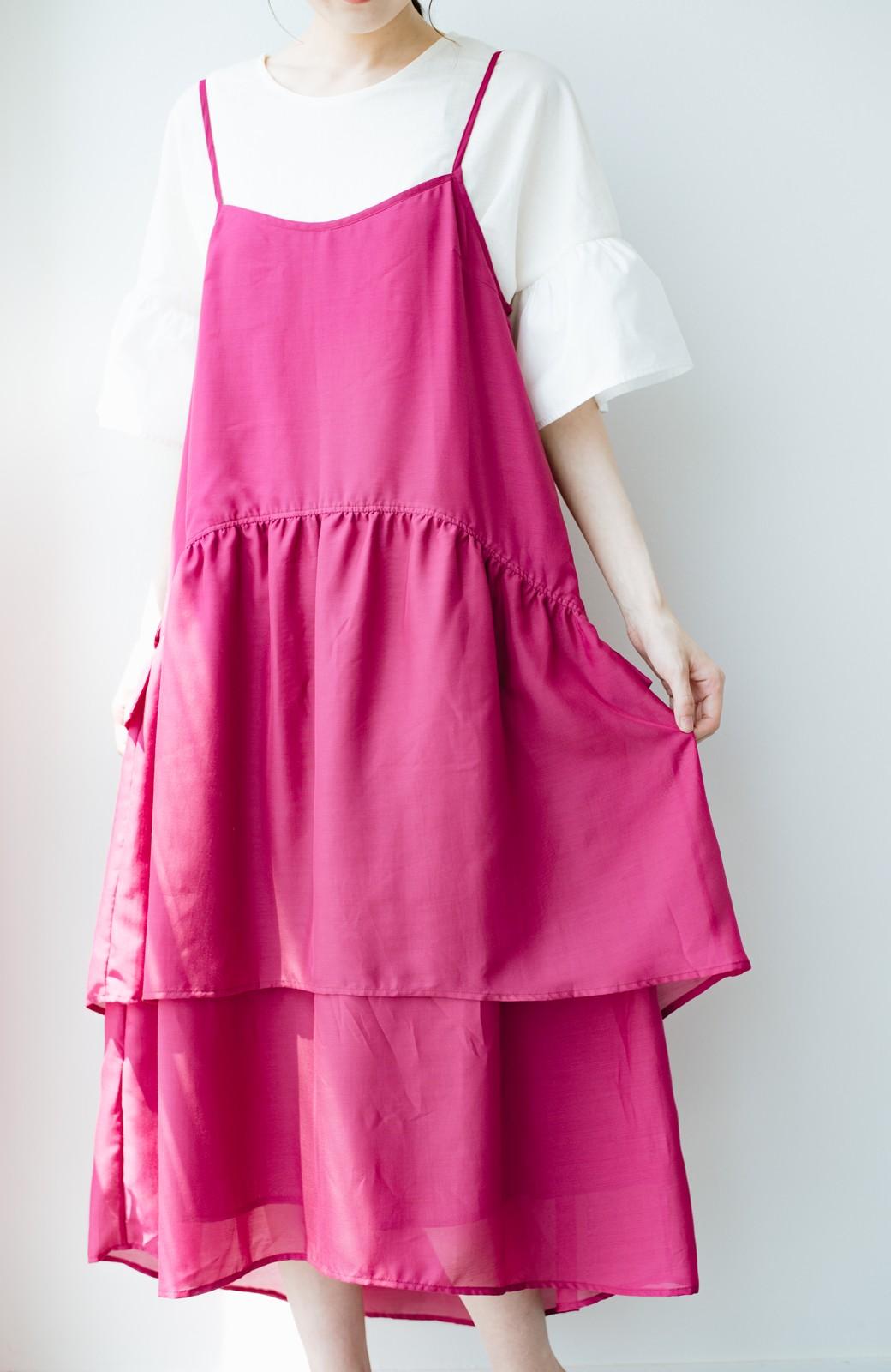 haco! てとひとて KANA MATSUNAMI  ティアードキャミドレス  <ピンク>の商品写真3