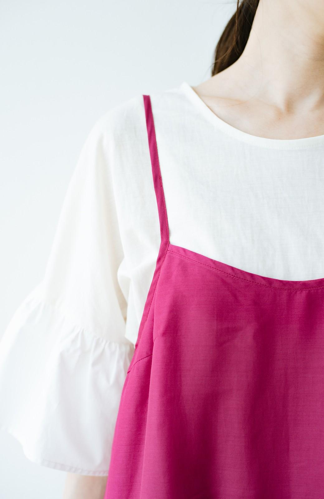 haco! てとひとて KANA MATSUNAMI  ティアードキャミドレス  <ピンク>の商品写真4