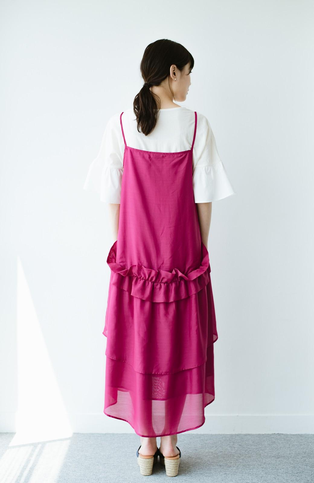 haco! てとひとて KANA MATSUNAMI  ティアードキャミドレス  <ピンク>の商品写真9