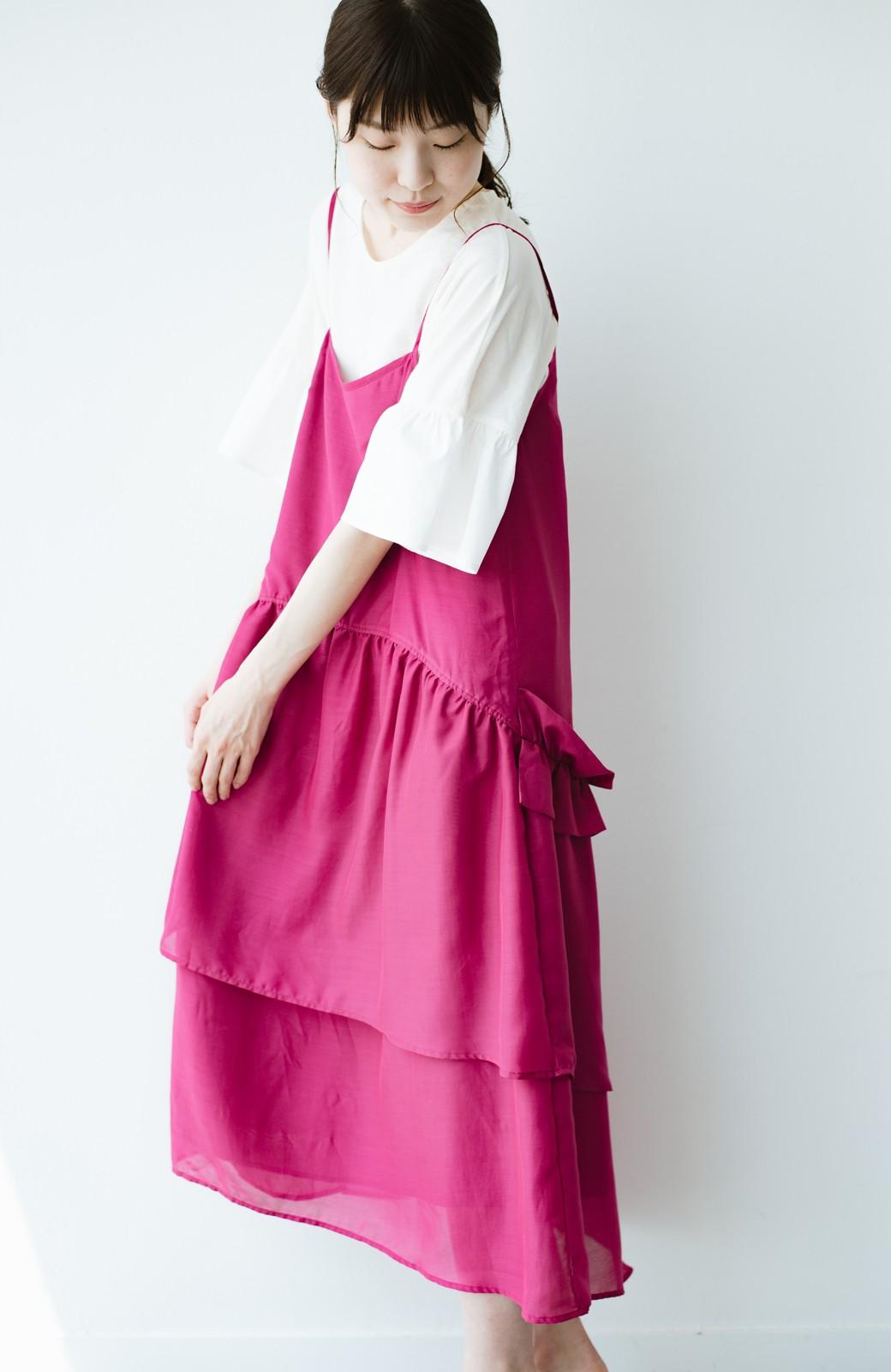 haco! てとひとて KANA MATSUNAMI  ティアードキャミドレス  <ピンク>の商品写真2