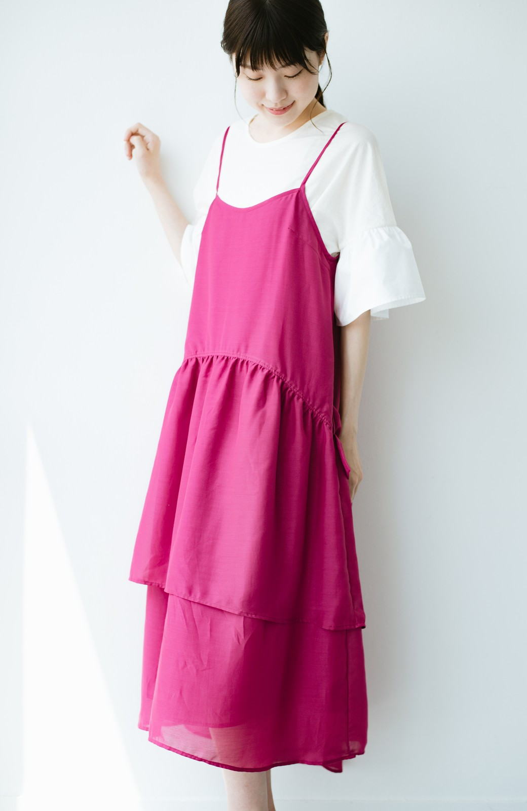 haco! てとひとて KANA MATSUNAMI  ティアードキャミドレス  <ピンク>の商品写真10