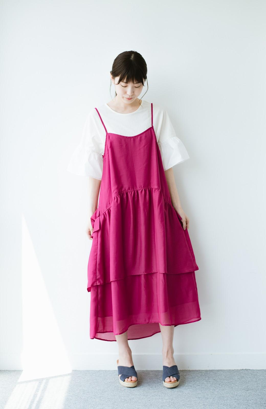 haco! てとひとて KANA MATSUNAMI  ティアードキャミドレス  <ピンク>の商品写真7