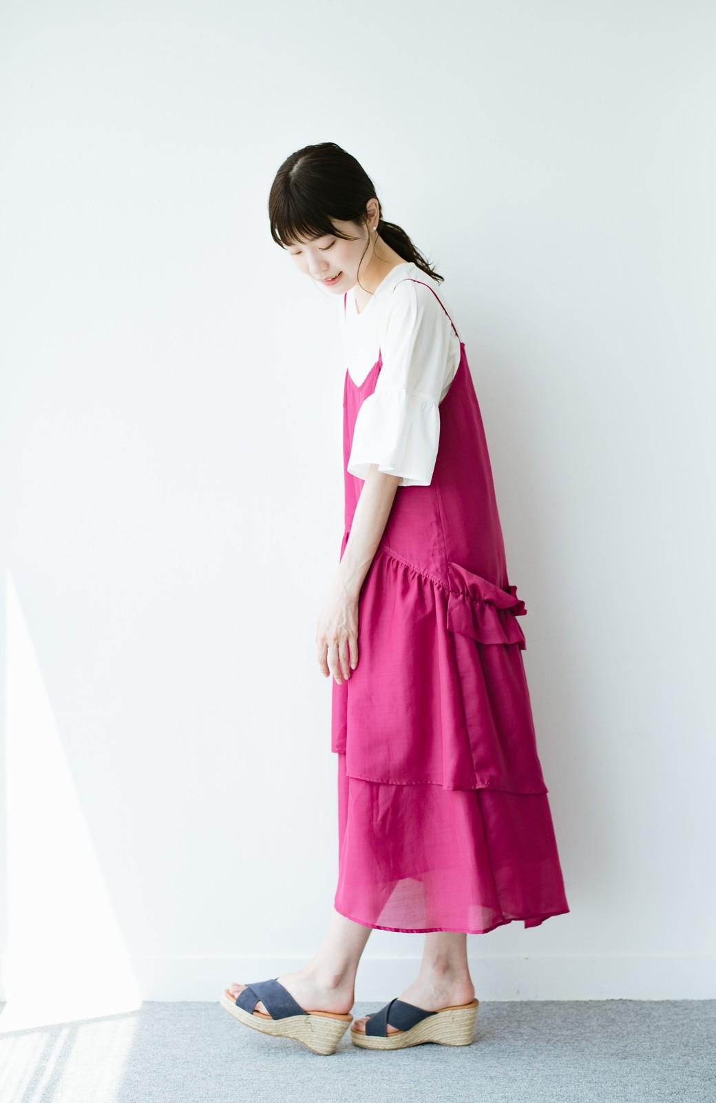 haco! てとひとて KANA MATSUNAMI  ティアードキャミドレス  <ピンク>の商品写真8