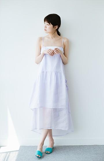 haco! てとひとて KANA MATSUNAMI  ティアードキャミドレス  <ラベンダー>の商品写真