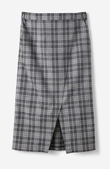 haco! きれいめ&今っぽ女っぽが叶う チェックのストレッチタイトスカート <ブラック系その他>の商品写真
