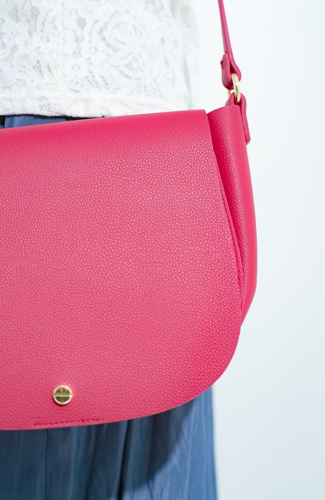 haco! ボンディンググレインフェイクレザー多収納ショルダーバッグ <ピンク>の商品写真2