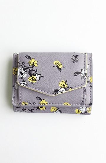 haco! Legato Largo オリジナルフラワーデザイン三つ折りミニ財布 <ラベンダー>の商品写真