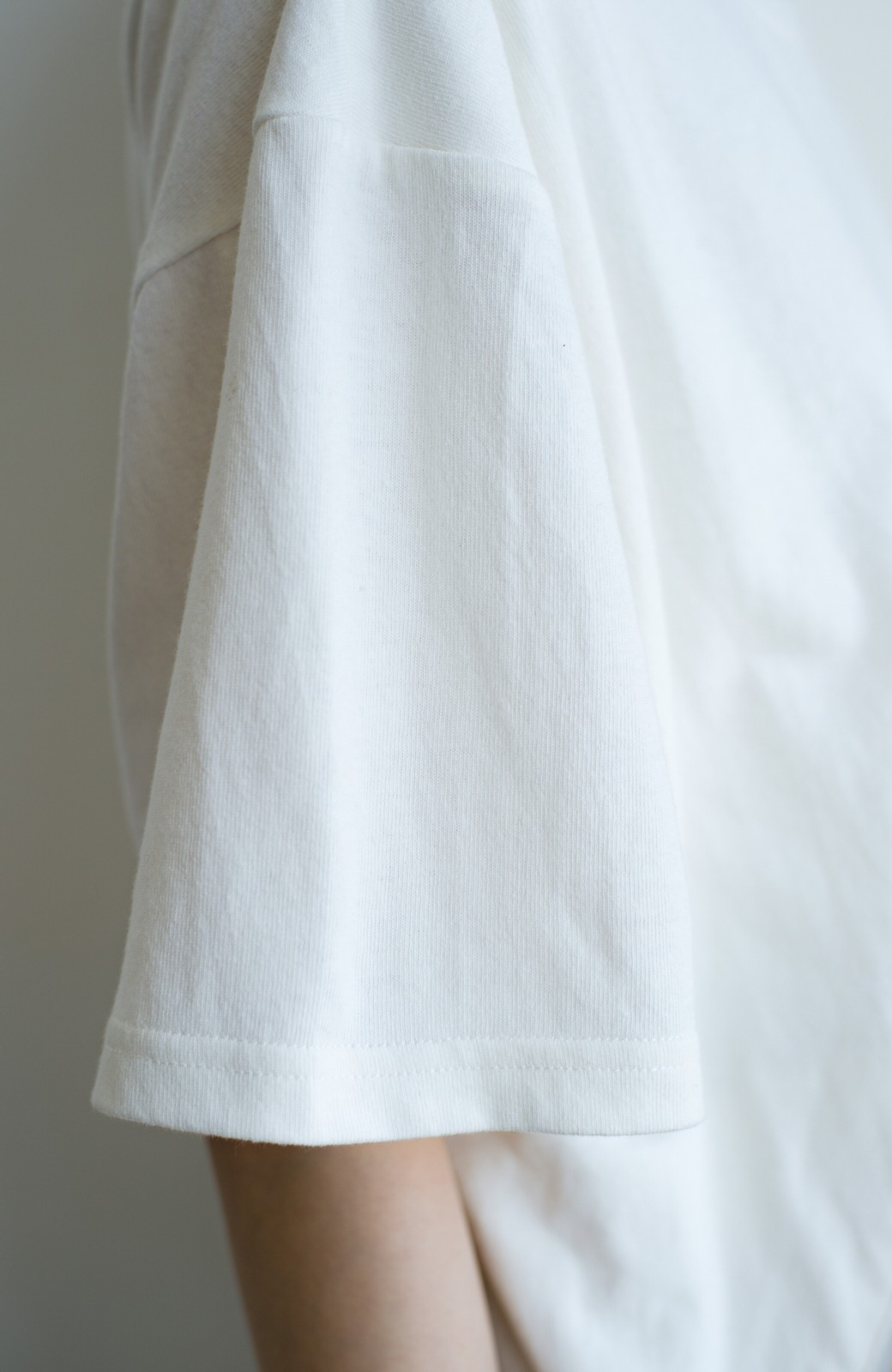 haco! 女の子バンザイ!プロジェクト 【ブルー期】PBPオーガニックコットンのおなかポケット付きTシャツ <ホワイト>の商品写真6
