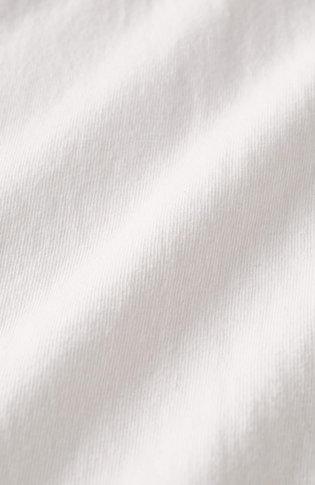 haco! 女の子バンザイ!プロジェクト 【ブルー期】PBPオーガニックコットンのおなかポケット付きTシャツ <ホワイト>の商品写真3