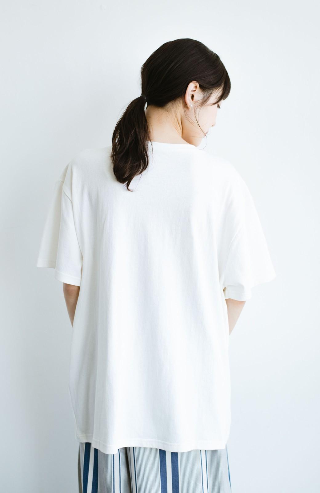 haco! 女の子バンザイ!プロジェクト 【ブルー期】PBPオーガニックコットンのおなかポケット付きTシャツ <ホワイト>の商品写真11