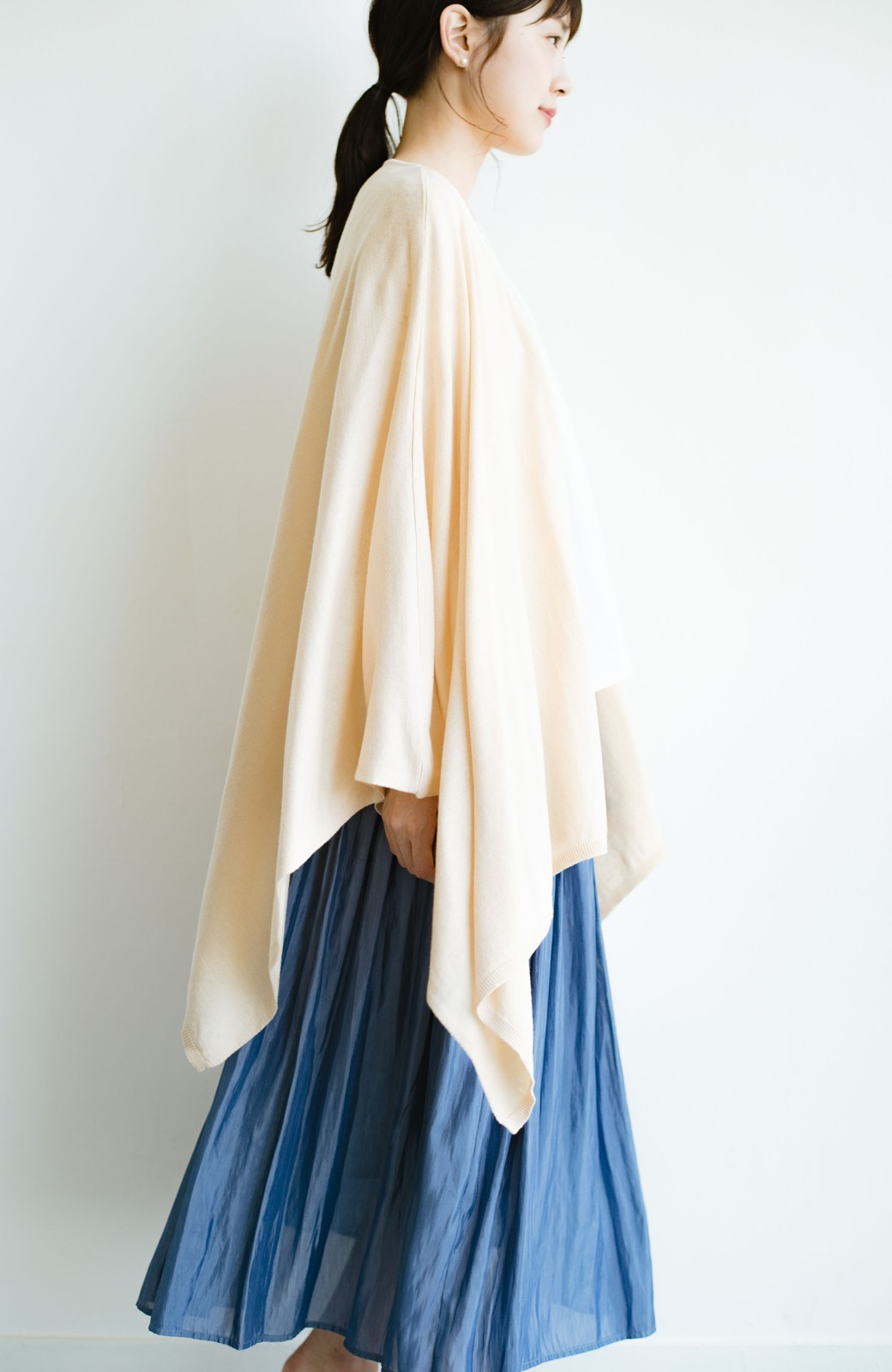 haco! 持ち運びベンリな冷え対策カーディガン【ブルー期】女の子バンザイ!プロジェクト <ベージュ>の商品写真18