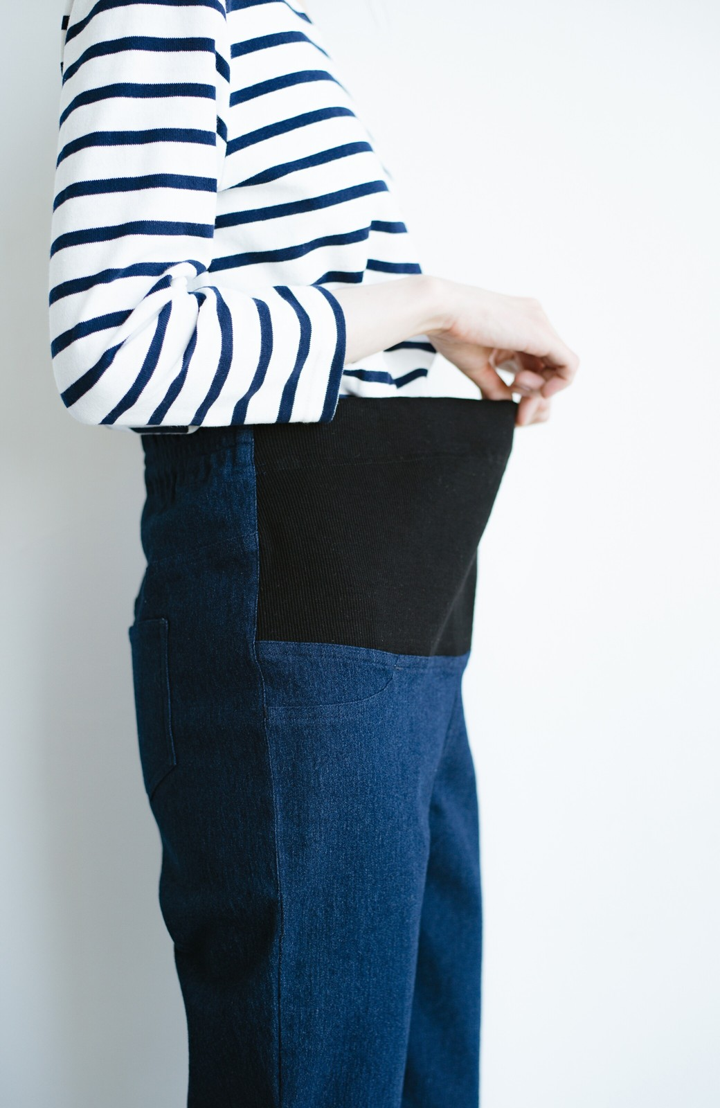 haco! おなかあったか安心感スキニーパンツ【ブルー期】女の子バンザイ!プロジェクト <ダークインディゴブルー>の商品写真4