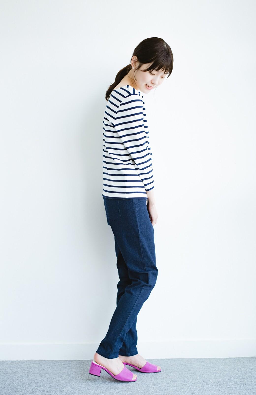 haco! おなかあったか安心感スキニーパンツ【ブルー期】女の子バンザイ!プロジェクト <ダークインディゴブルー>の商品写真16