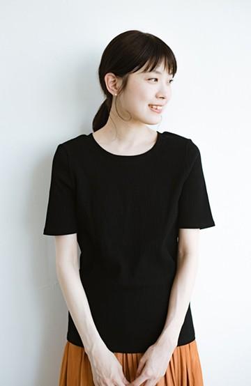 haco! ここぞ!とばかりに華奢見せ女っぽTシャツ【キラキラ期】女の子バンザイ!プロジェクト <ブラック>の商品写真