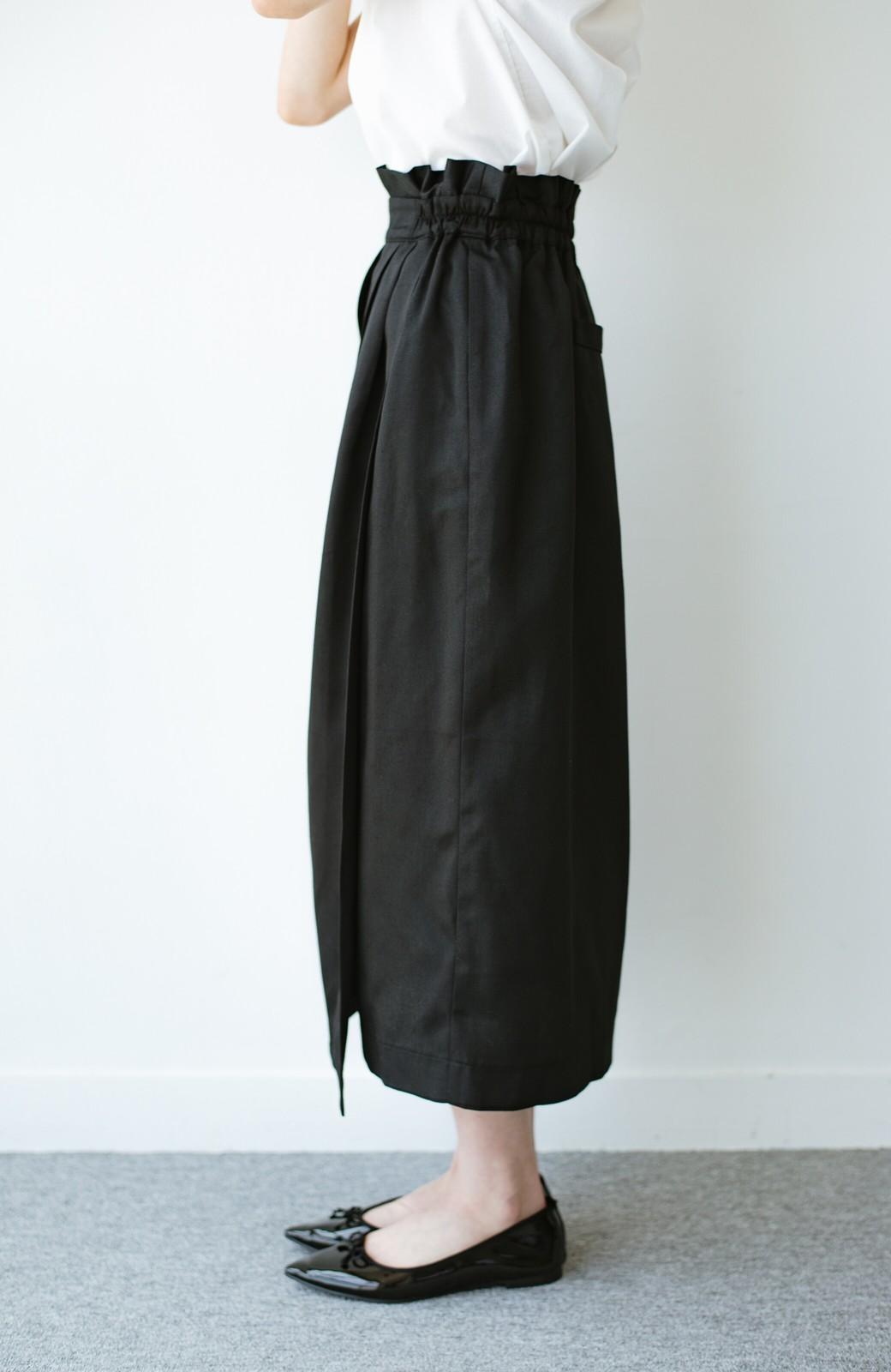 haco! 女の子バンザイ!プロジェクト【キラキラ期】華やかになるなら今だ!女っぽタックスカート <ブラック>の商品写真5