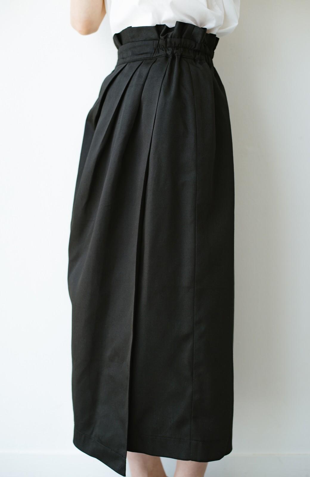 haco! 女の子バンザイ!プロジェクト【キラキラ期】華やかになるなら今だ!女っぽタックスカート <ブラック>の商品写真7