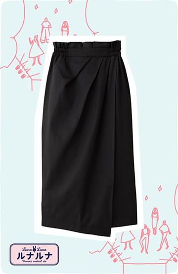 haco! 女の子バンザイ!プロジェクト【キラキラ期】華やかになるなら今だ!女っぽタックスカート <ブラック>の商品写真