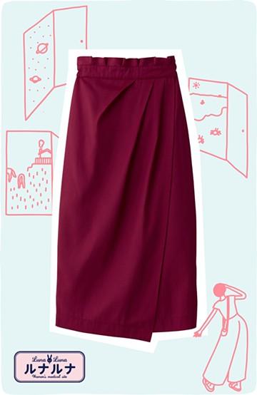 haco! 女の子バンザイ!プロジェクト【キラキラ期】華やかになるなら今だ!女っぽタックスカート <レッド>の商品写真