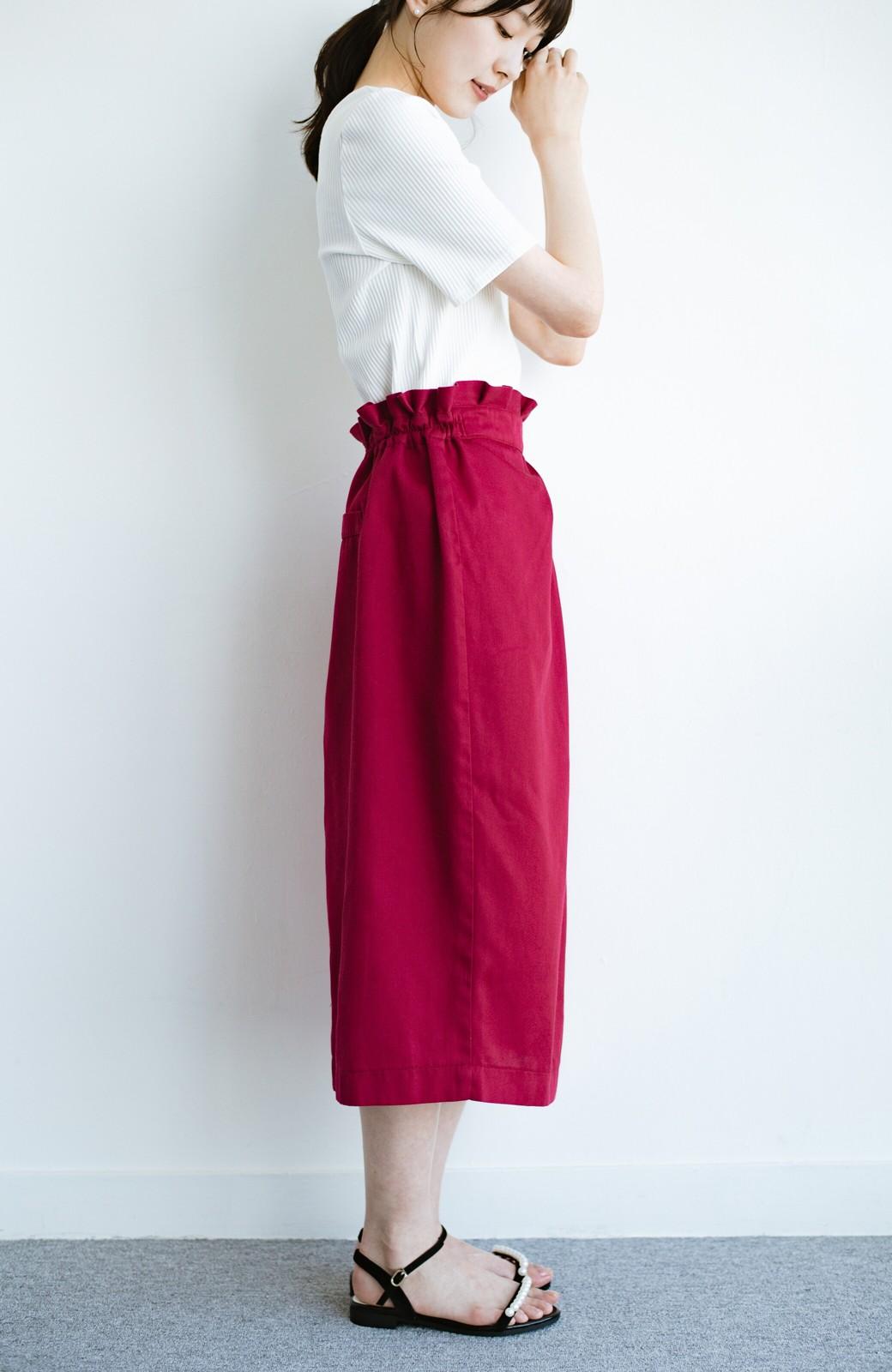 haco! 女の子バンザイ!プロジェクト【キラキラ期】華やかになるなら今だ!女っぽタックスカート <レッド>の商品写真12