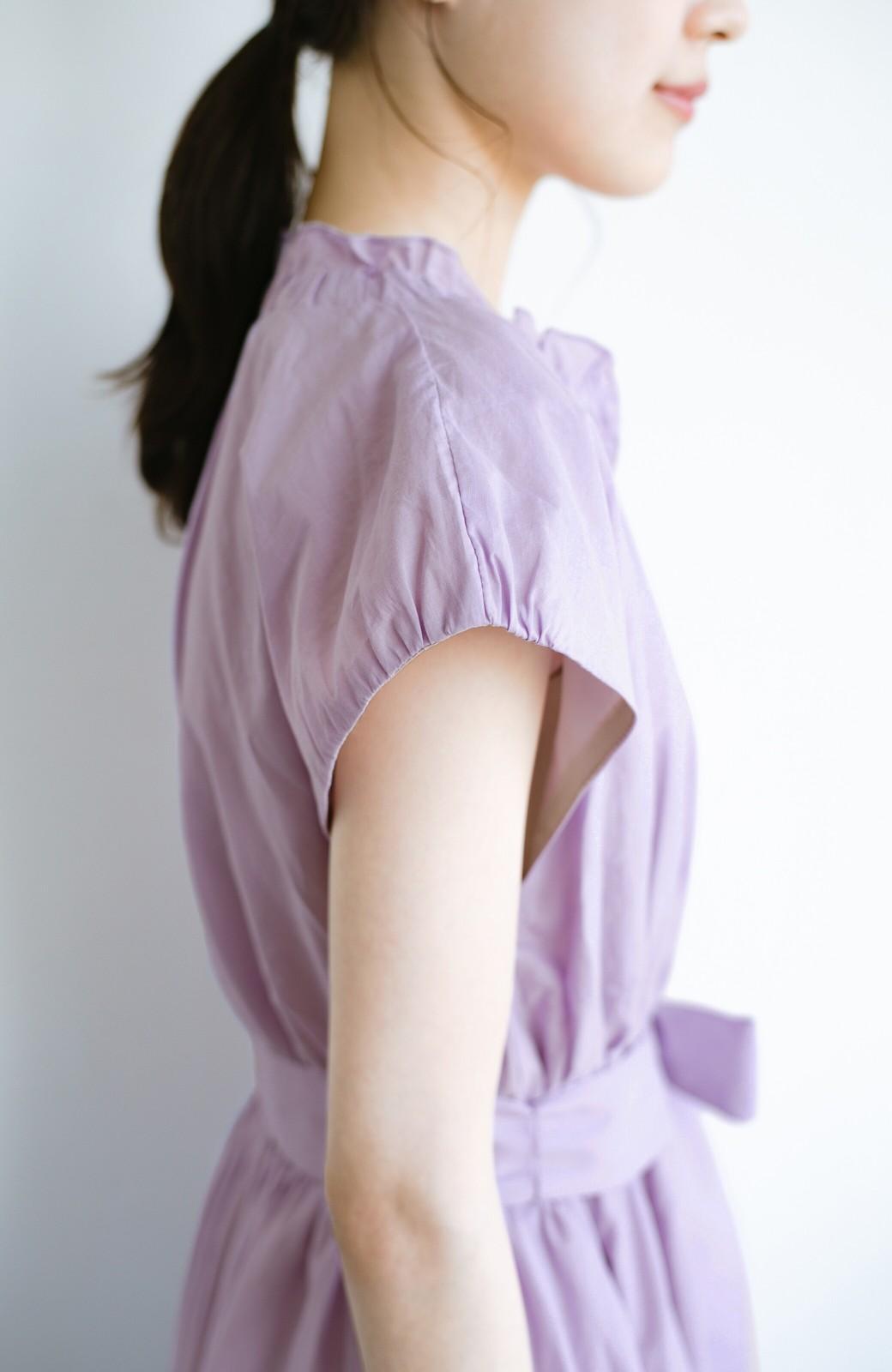 haco! ウエストギャザーふんわり女子ワンピース【キラキラ期】女の子バンザイ!プロジェクト <ラベンダー>の商品写真7
