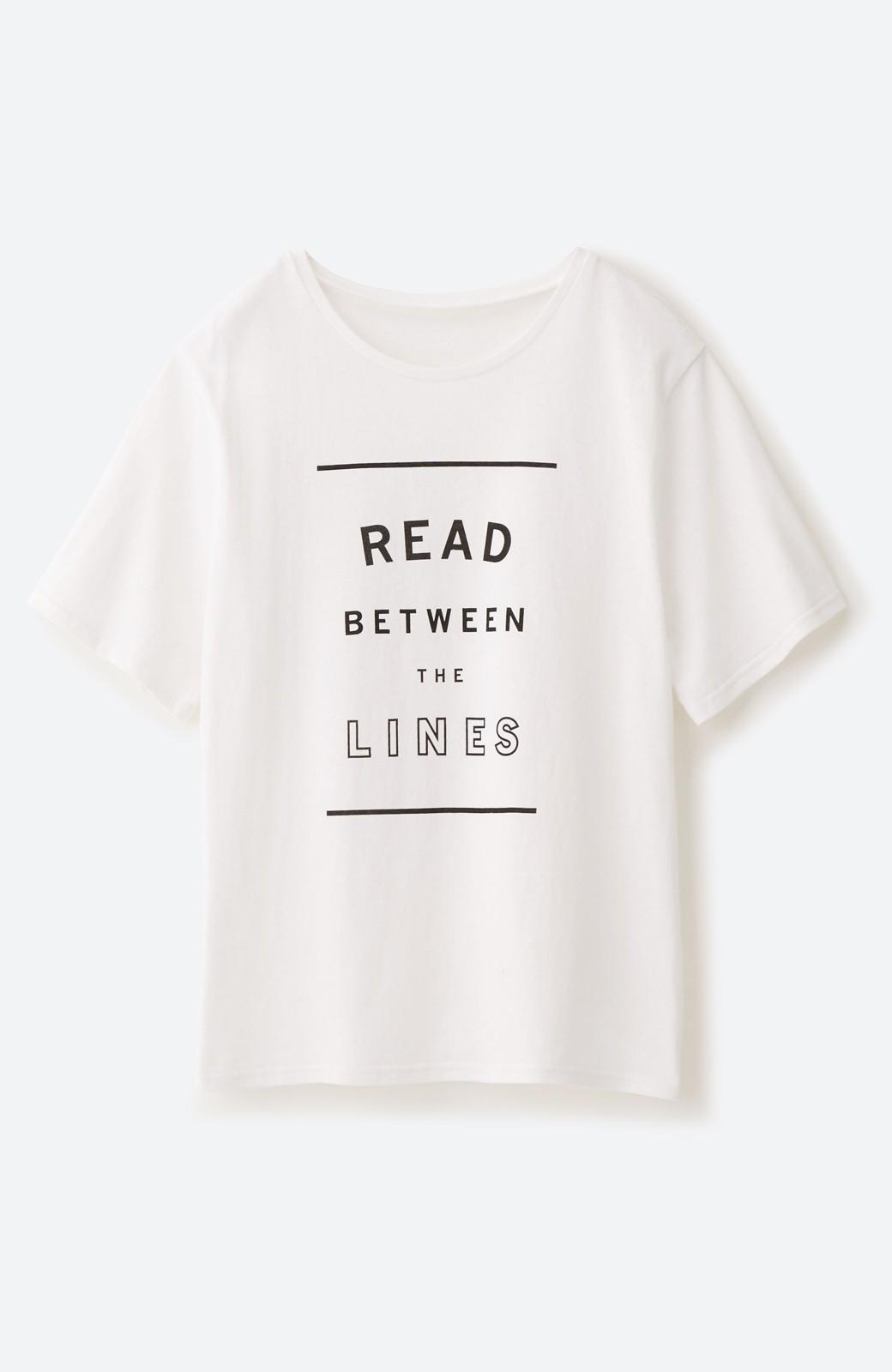 haco! 女の子バンザイ!プロジェクト【毎日いろいろあるのよ】PBPオーガニックコットンの女子の気持ちを察してほしいよTシャツ <ホワイト>の商品写真2