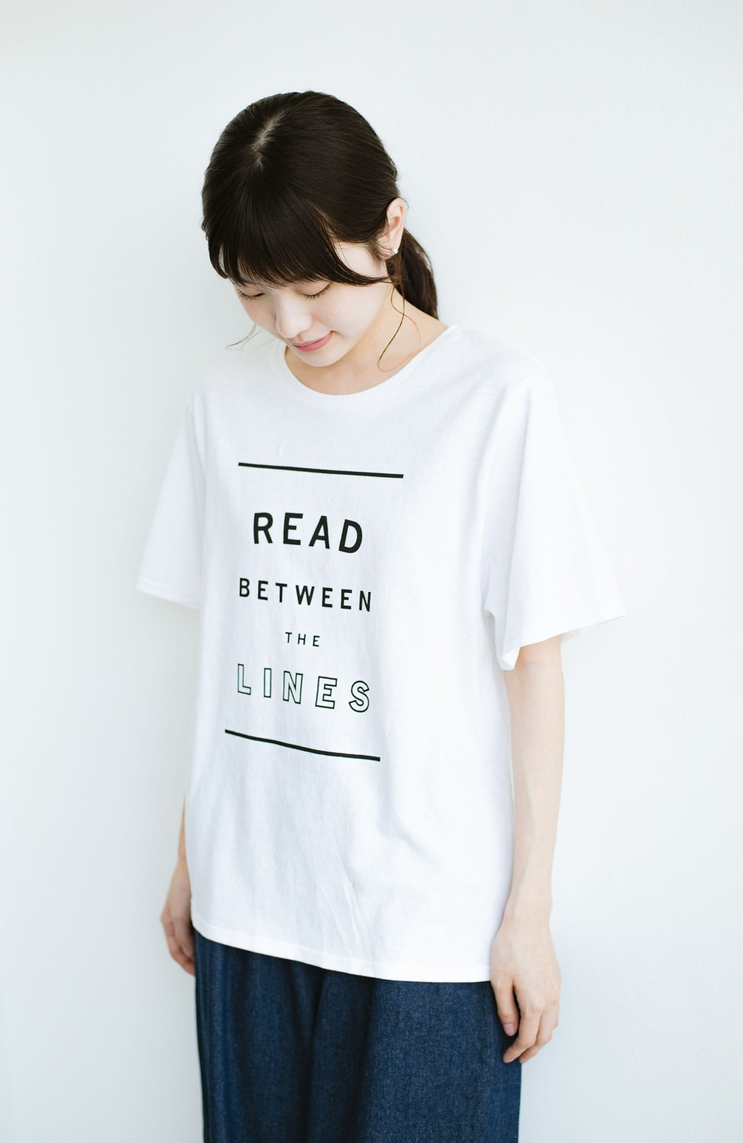 haco! 女の子バンザイ!プロジェクト【毎日いろいろあるのよ】PBPオーガニックコットンの女子の気持ちを察してほしいよTシャツ <ホワイト>の商品写真7