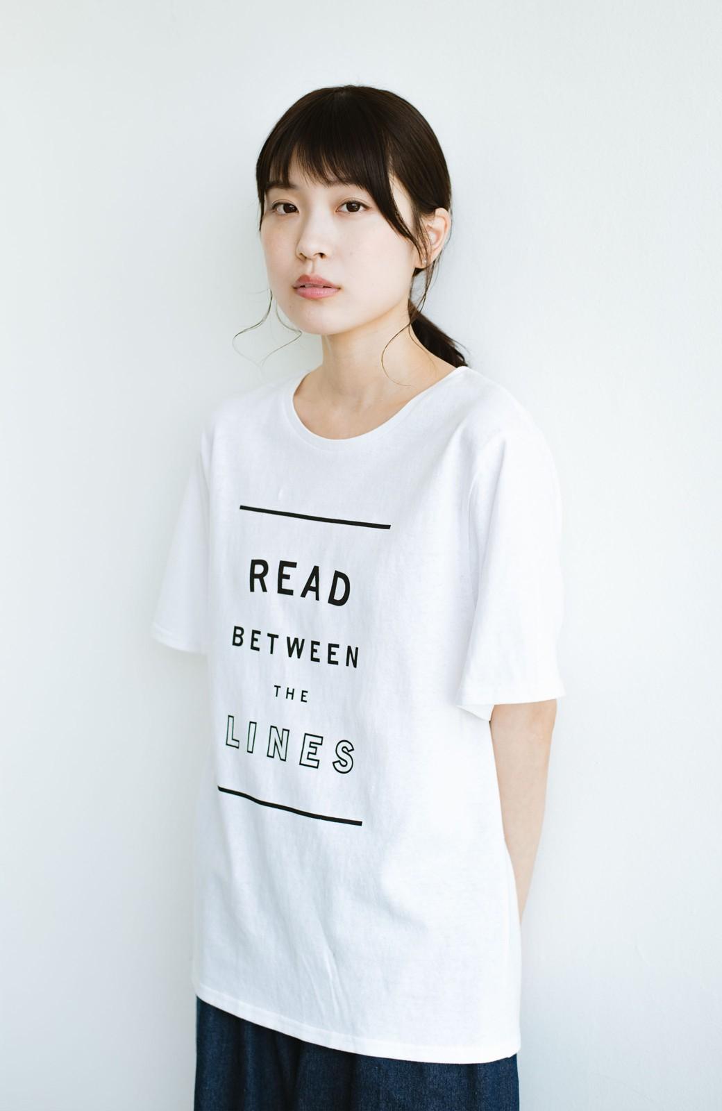 haco! 女の子バンザイ!プロジェクト【毎日いろいろあるのよ】PBPオーガニックコットンの女子の気持ちを察してほしいよTシャツ <ホワイト>の商品写真8