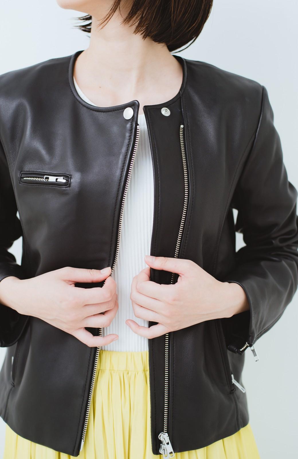 haco! BOLSISTA ブラックライダースジャケット<シングル> <ブラック>の商品写真3