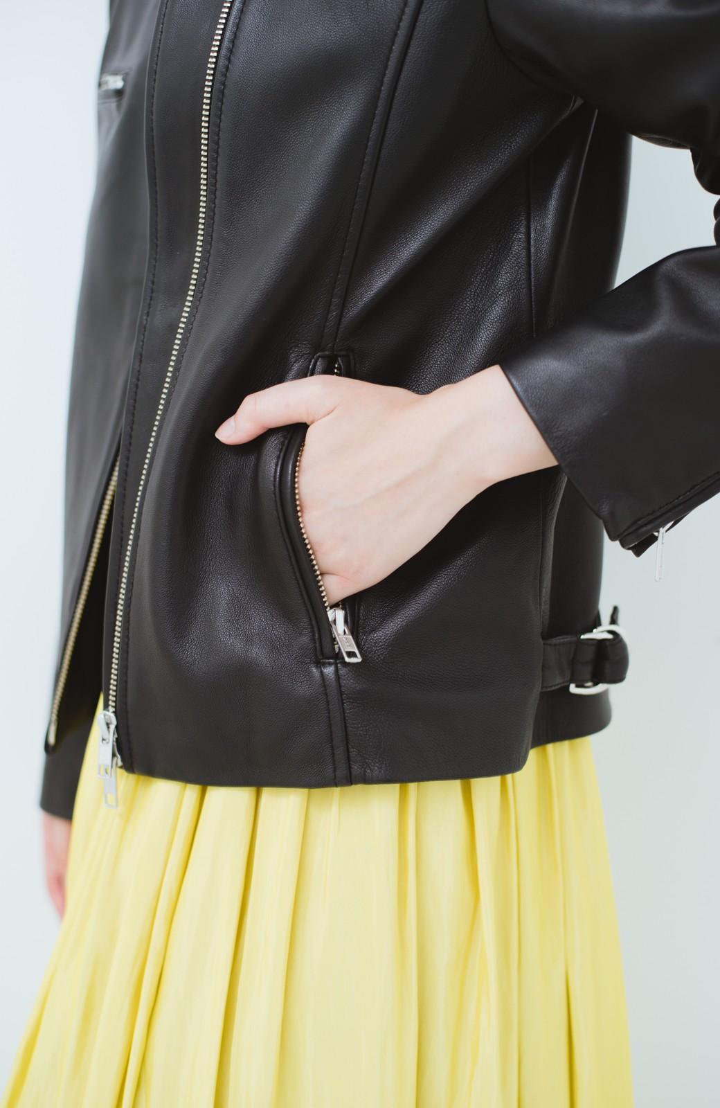 haco! BOLSISTA ブラックライダースジャケット<シングル> <ブラック>の商品写真4