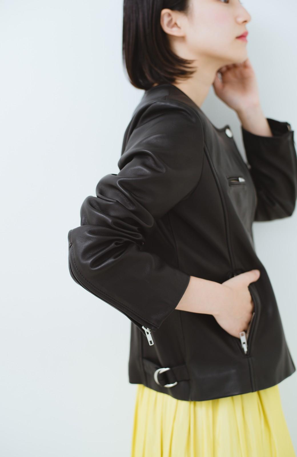 haco! BOLSISTA ブラックライダースジャケット<シングル> <ブラック>の商品写真5
