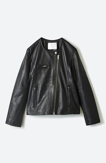 haco! BOLSISTA ブラックライダースジャケット<シングル> <ブラック>の商品写真