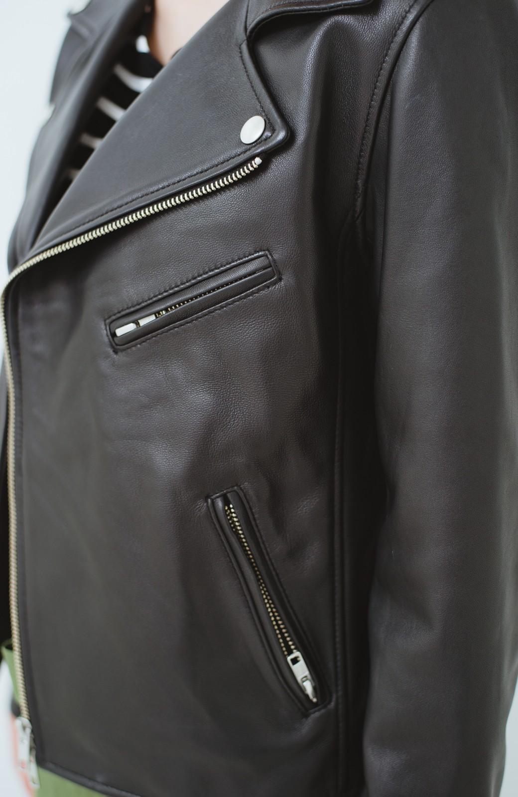 haco! BOLSISTA ブラックライダースジャケット<ダブル> <ブラック>の商品写真3