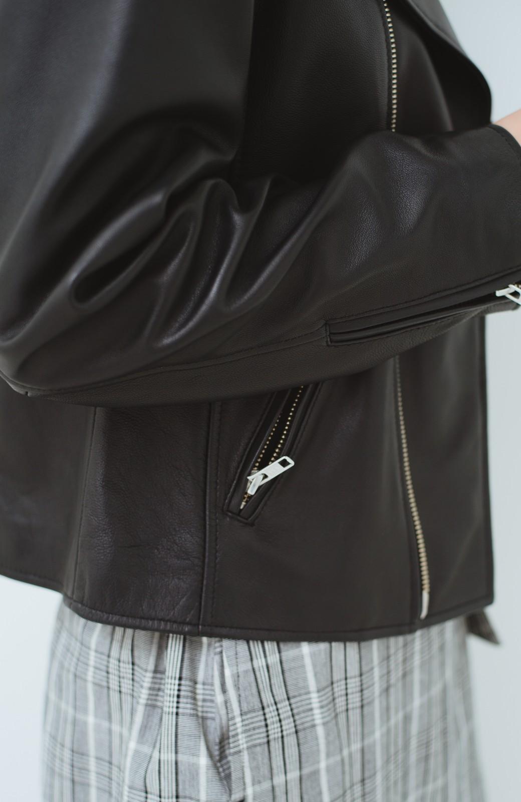 haco! BOLSISTA ブラックライダースジャケット<ダブル> <ブラック>の商品写真4