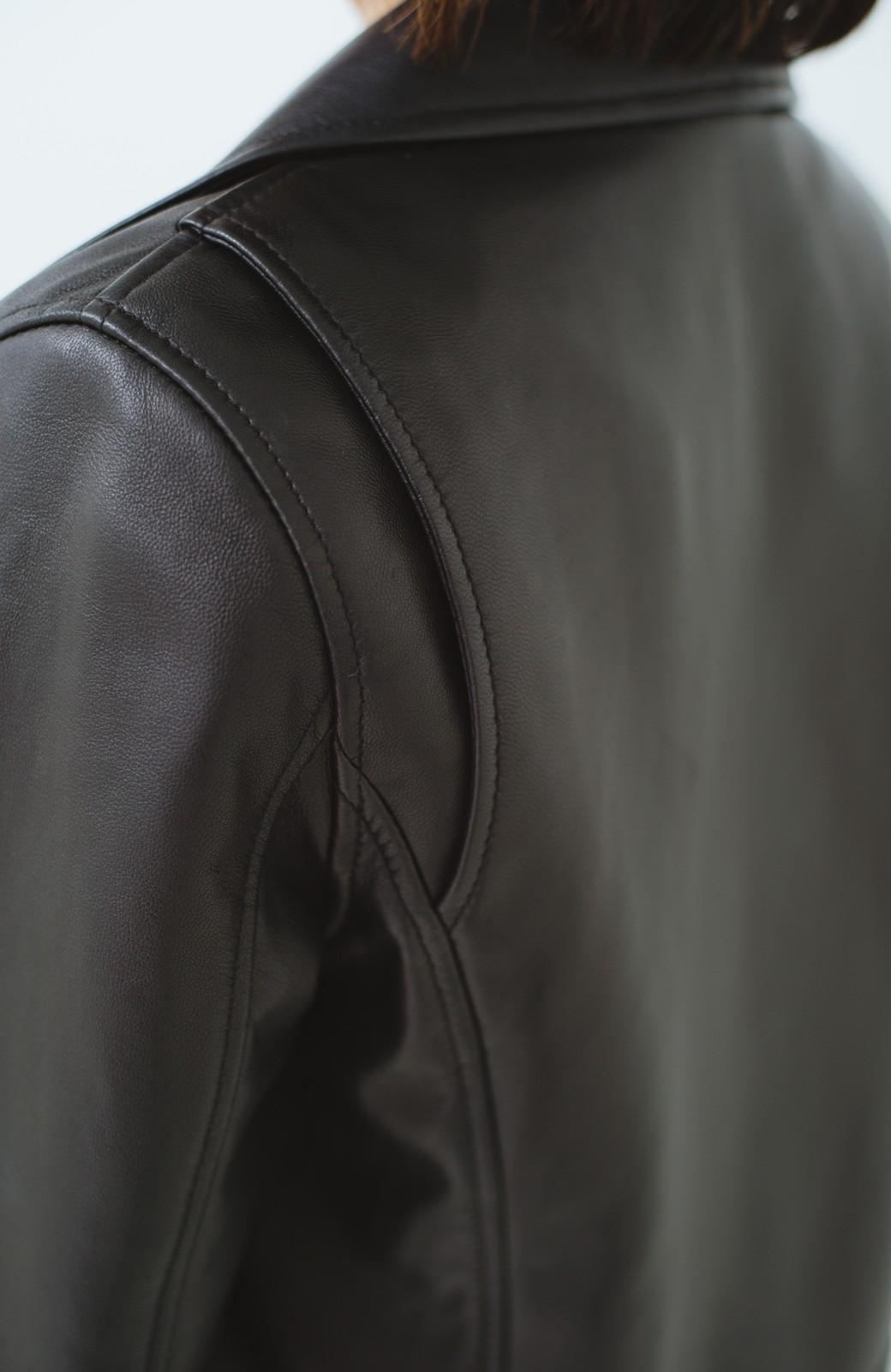 haco! BOLSISTA ブラックライダースジャケット<ダブル> <ブラック>の商品写真5