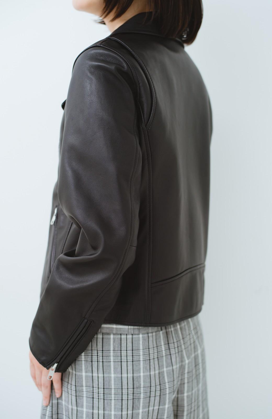 haco! BOLSISTA ブラックライダースジャケット<ダブル> <ブラック>の商品写真12