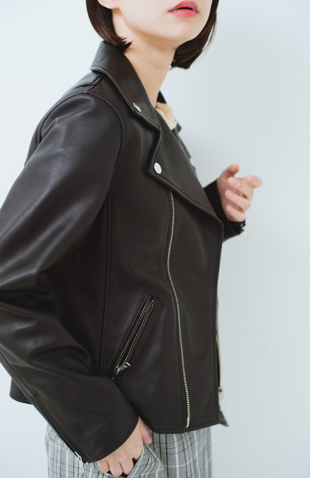 haco! BOLSISTA ブラックライダースジャケット<ダブル> <ブラック>の商品写真13