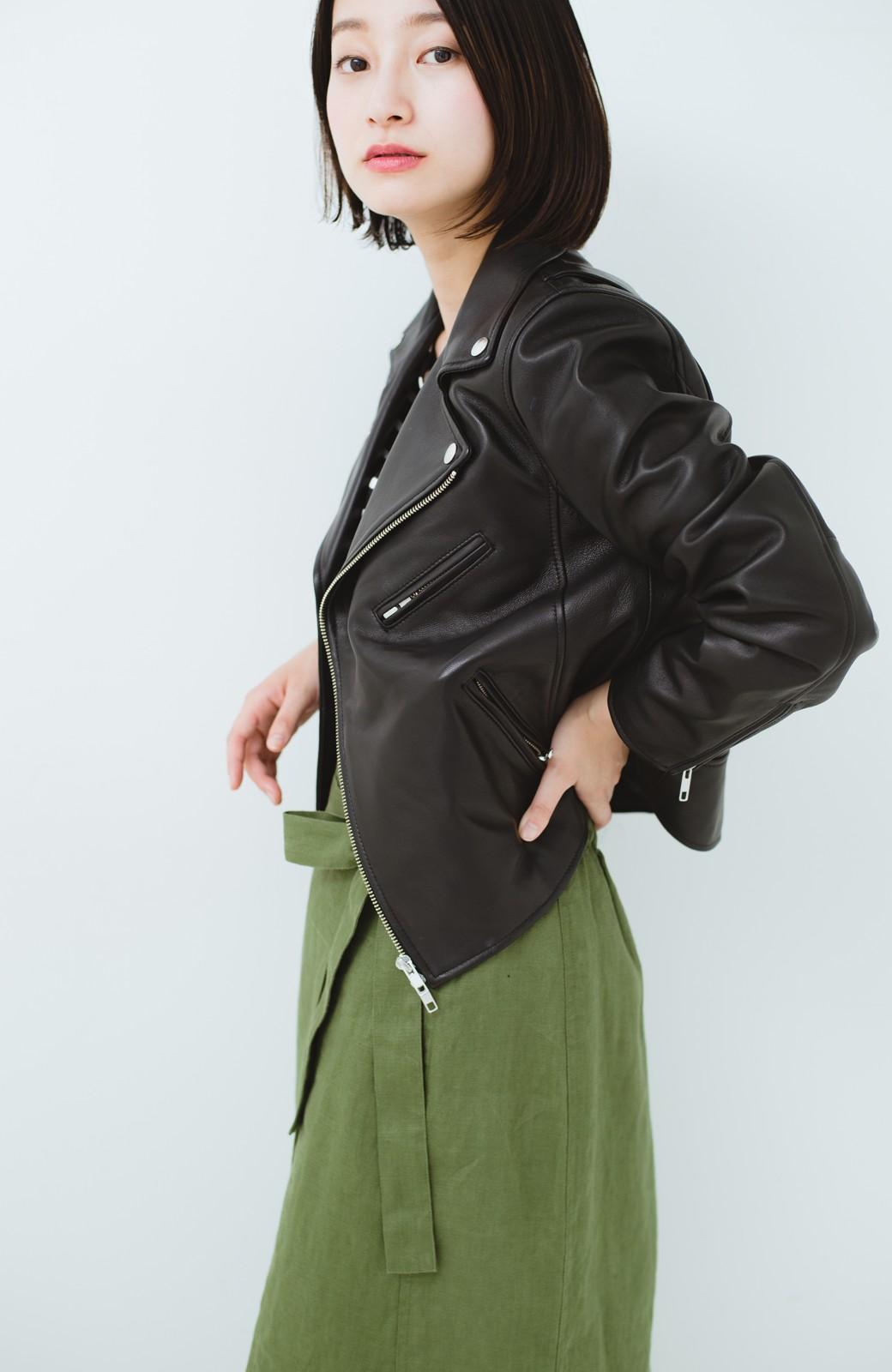 haco! BOLSISTA ブラックライダースジャケット<ダブル> <ブラック>の商品写真16