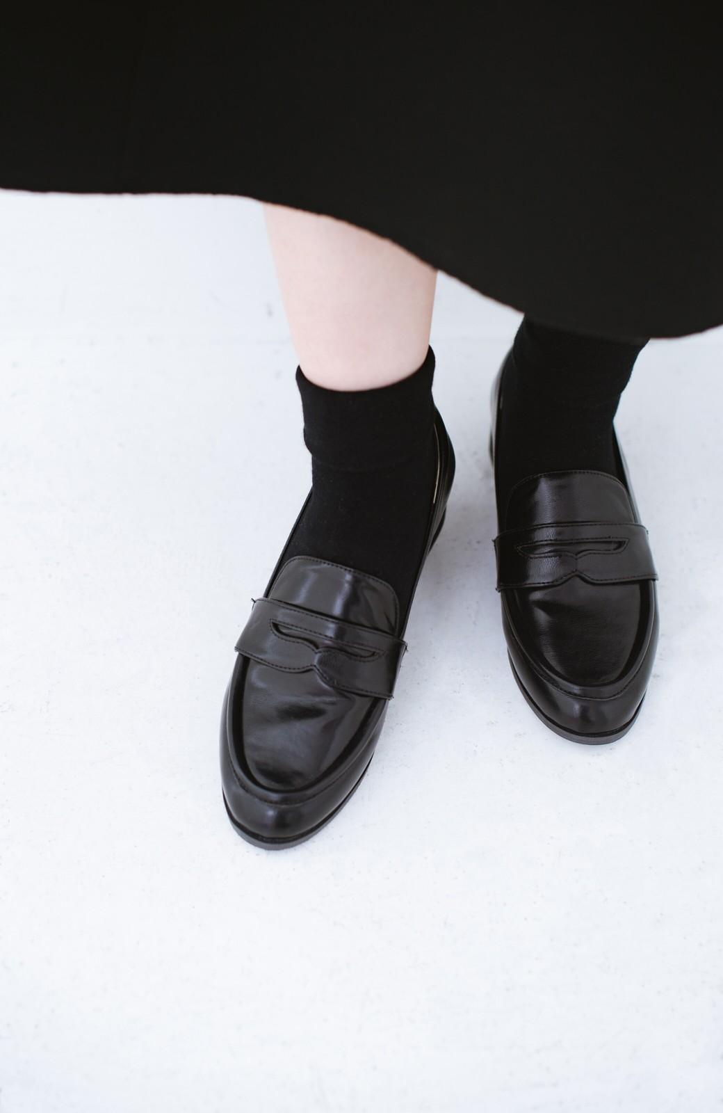 haco! スニーカーのかわりにパッとはいてきちんと見える 便利なローファー <ブラック>の商品写真8