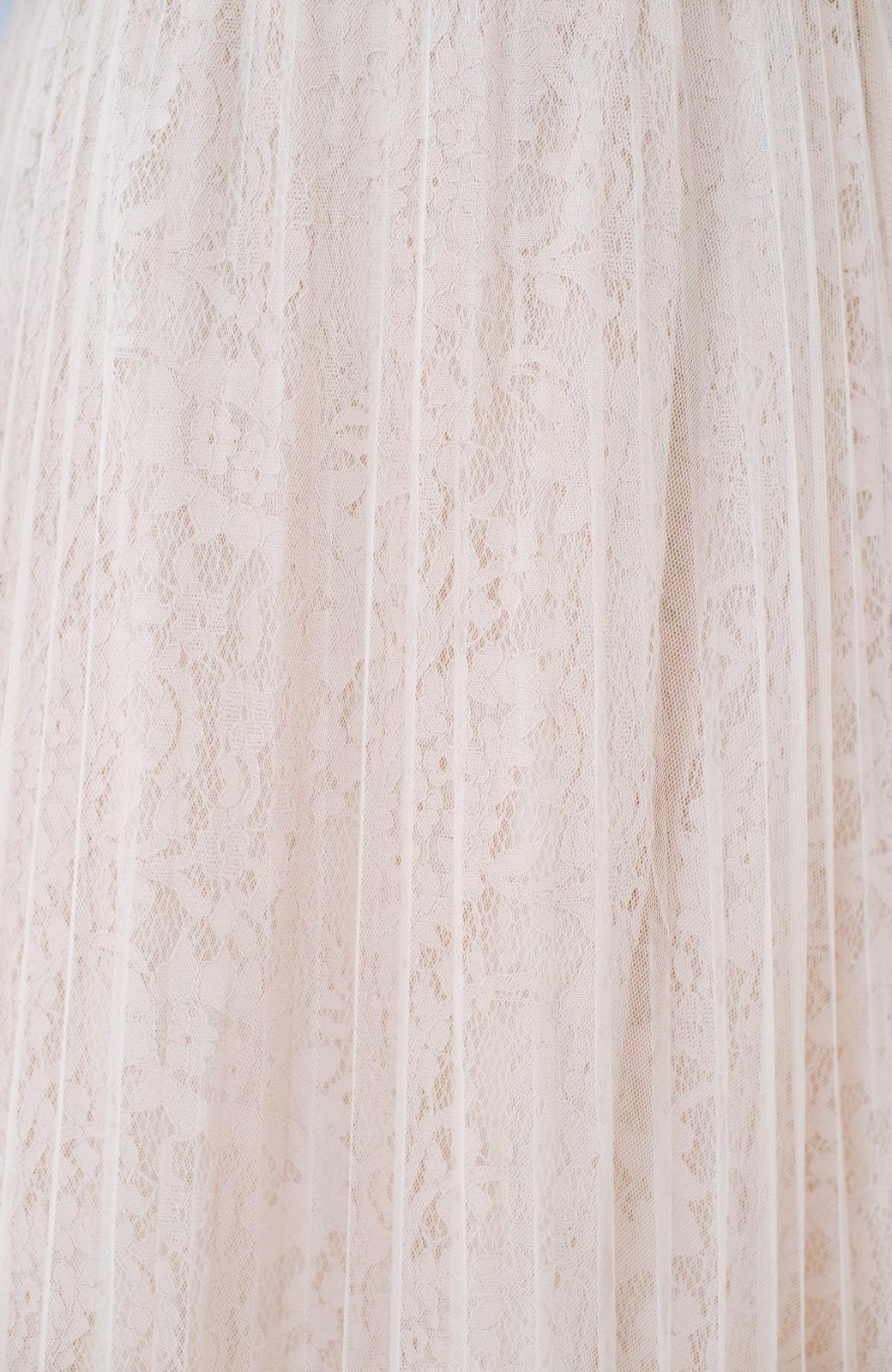 haco! 楽していることがばれない プリーツチュール&レースのスカート <アイボリー>の商品写真10